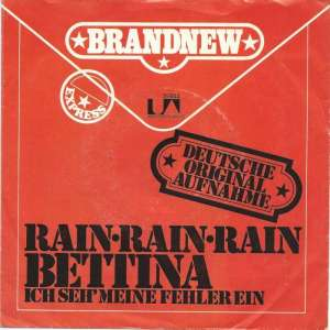 "Bettina - Rain, Rain, Rain (7"" UA-Records Single Germany)"