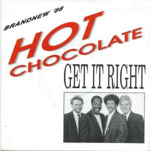 "Hot Chocolate - Get It Right (7"" Bellaphon Single Germany)"