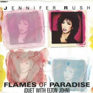 "Jennifer Rush with Elton John - Flames Of Paradise (7"" UK)"