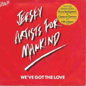 "Jersey Artists For Mankind - We've Got The Love (7"" Single)"