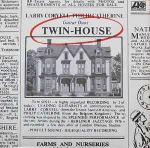 Larry Coryell & Philip Catherine - Twin-House (Vinyl-LP)