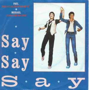 "Paul McCartney & Michael Jackson - Say Say Say (7"" Single)"