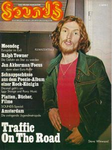 Sounds May 1974 (05/74) with Titlsstory: Steve Winwood