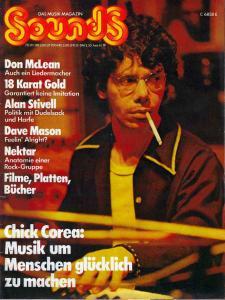 Sounds June 1974 (06/74) with Titlestory: Chick Corea