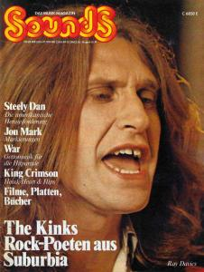 Sounds August 1974 (08/74) with Titlestory: The Kinks