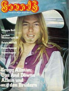 Sounds May 1975 (05/75) Titlestory: Allman Brothers