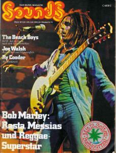 Sounds October 1975 (10/75) with Titlestory: Bob Marley